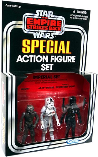 Kenner Star Wars The Empire Strikes Back Special Action Figure Set Imperial Set 4LOM, ATAT Driver, Imperial TIE Fighter - Driver Atat