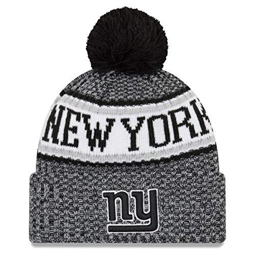 0e916847a10 New Era New York Giants Black   White Sport Knit NFL 2018 Beanie Unisex Hat  .