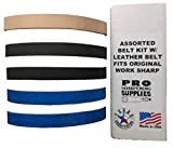 Assorted 1/2 in. X 12 in. Replacement Belt Kit with Leather Honing Belt fits Original Work Sharp 1/2''x12'' Sharpening Belt Assortment Fits WSKTS Knife and Tool Sharpener