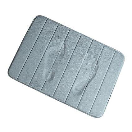 eDealMax Baño Alfombras antideslizante Suave absorbente de espuma de Memoria de rebote alfombras de baño DE