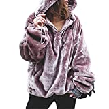 Women Hoodie Warm Plush Hooded Sweater Thickened Sweater Girl Winter Clothes Top