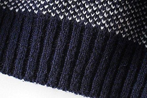 Donna Blu Maglioni Inverno Rotondo Cervi Natale Lunga Unique fashion HX Vintage In Manica Pullover Elegante Maglieria Maglia Autunno Pattern Maglioncino Sweater Chic Maglione Collo gS5nUq