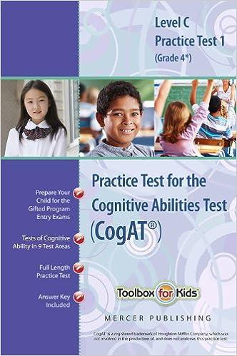 Cognitive abilities test cogat multilevel c book grade 4 cognitive abilities test cogat multilevel c book grade 4 practice test 1 form 6 mercer publishing 9780984421015 amazon books fandeluxe Gallery
