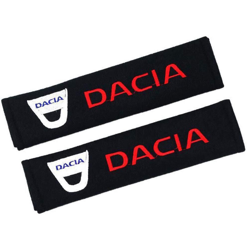 bordadas 1 par de almohadillas para cintur/ón de seguridad de coche Fitracker con logotipo de coche