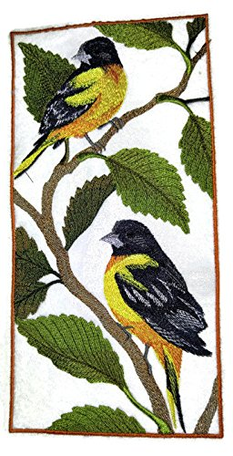 Nature weaved in threads, Amazing Birds Kingdom [Baltimore Oriole Panel] [Custom and Unique] Embroidered Iron on/Sew patch [9.42