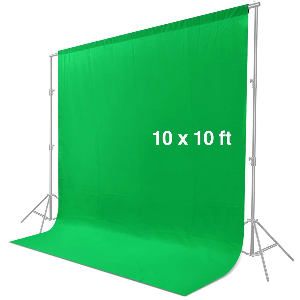 80cm - 200cm Barra Trasversale a 4 Sezioni CRAPHY Sistema di Supporto 2m x 3m per Fondale Sfondo Regolabile Guanti Con Borsa da Trasporto 6 x Clip