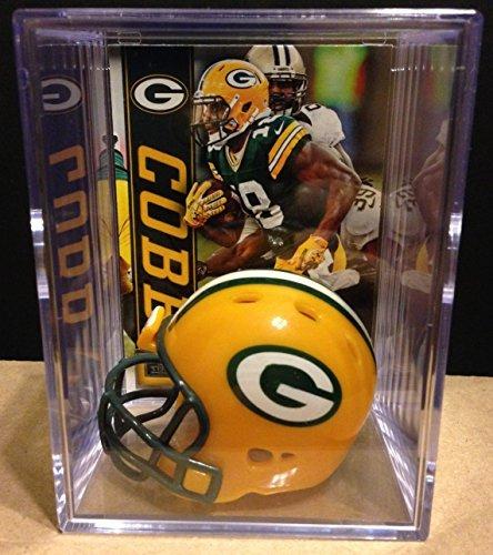 Green Bay Packers NFL Helmet Shadowbox w/ Randall Cobb card Riddell