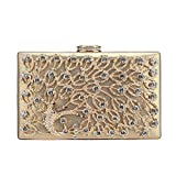 Fawziya Peacock Clutches For Prom Clutch Purses For Women Evening Bags-Gold