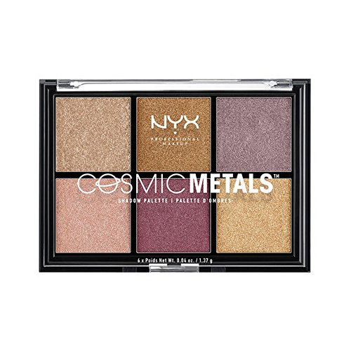 (NYX PROFESSIONAL MAKEUP Cosmic Metals Shadow Palette, 0.04 Ounce)