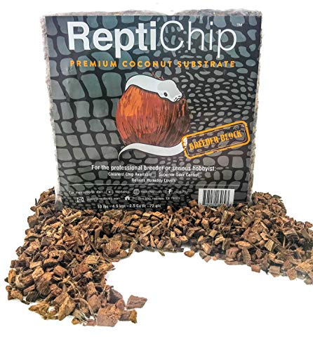 ReptiChip Premium Coconut Reptile Substrate, 72 Quarts, Perfect for Pythons, Boas, Lizards, and Amphibians ()
