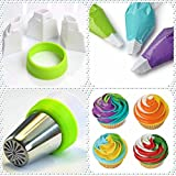 Baking Supplies Set 26-Pcs DELUXE Russian Piping Tips 12 Icing Frosting Nozzles Russian Nozzles Cake Cupcake Decorating Supplies kit 2 Couplers-10 Pastry Baking Bags 1 Silicone Bag 1 Leaf Tip GIFT BOX