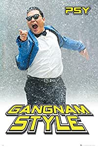 Psy Poster Gangnam Style (61cm x 91,5cm) + 1 pair of black poster hangers