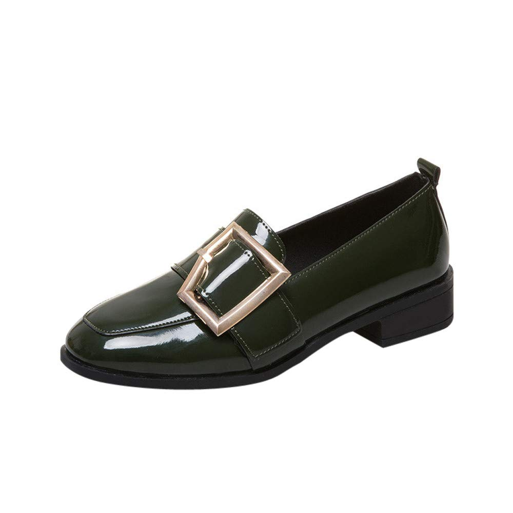 NIUJIN Womens Leather Loafers Casual Loafers Round Toe Comfort Slip On Flats Walking Shoes