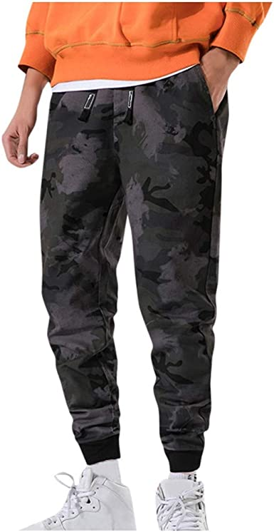 Pantalones Vaquero para Hombre, Camuflaje Pantalones Casuales ...