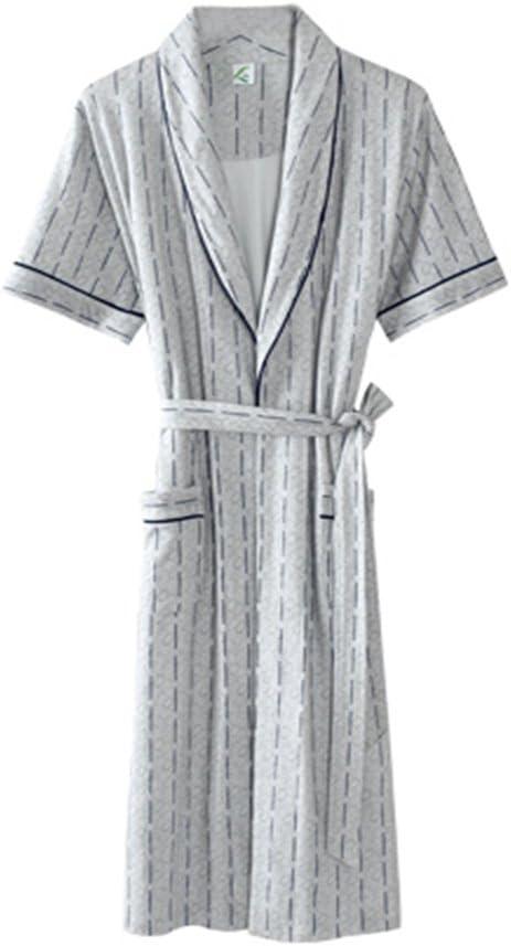 SQINAA Albornoz 100% Algodón Hombres, Flojo Pijama De Kimono Bata ...