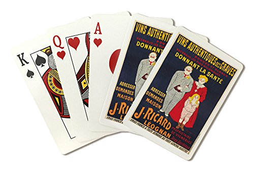 J Ricard Vintage Poster (artist: Cappiello) France c. 1905 (Playing Card Deck - 52 Card Poker Size with Jokers) (Ricard Poster)