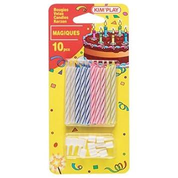 Cofalu KimPlay - 10 Magia Velas - Vela de cumpleaños : Ellos no se detienen a encender de nuevo!