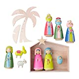 Hallmark, My First Traditions Nativity Set (11 pieces), Modern Wood Figurines by Azusa Omura