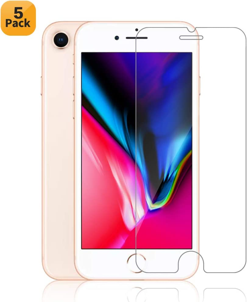 Maxdara iPhone 6 6s 7 8 Tempered Glass Screen Protector Ultra Thin Touch Accurate Anti-Scratch Front Screen Glass Protector Case Friendly for iPhone 6 6s 7 8 4.7 inches (5 Pack)