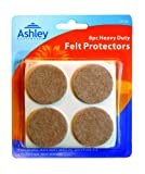 8 Pack Heavy Duty Felt Protectors For Use on Sofas, Chairs, Stools, Tables, etc. 38 mm Diameter by Ashley