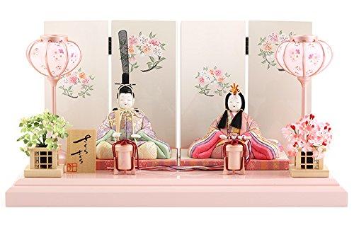雛人形 一秀 ひな人形 雛 木目込人形飾り 平飾り 親王飾り 木村一秀作 さくらさくら 17号 h313-ic-131   B0783B56KP