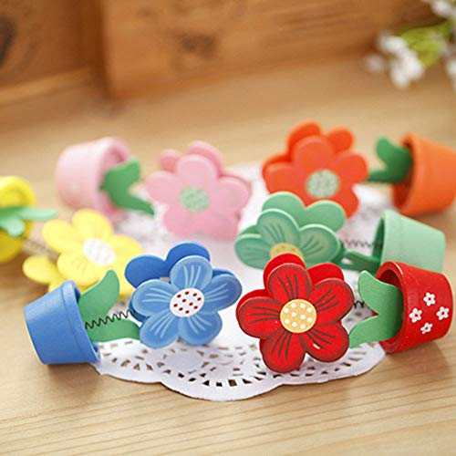 Photo Photo Clip Home Garden New Wooden Cute Flower Photo Folder Picture Note Frame Home Decor -