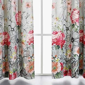Amazon Com Lush Decor Clara Curtains Paisley Damask Print