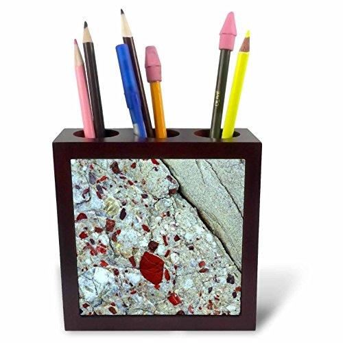 (3dRose ph_91072_1 Pudding Stone, Jasper Quartz, Rock Mineral-Us23 Bja0030-Jaynes Gallery-Tile Pen Holder,)