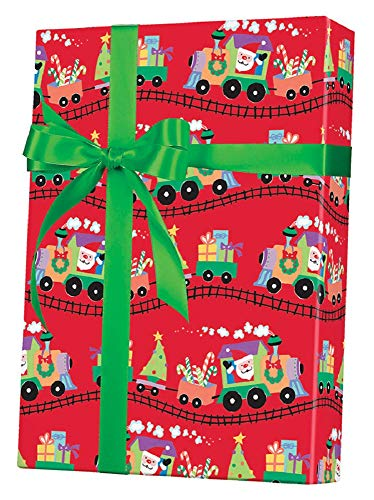 Santa Express Gift Wrap Rolled 24
