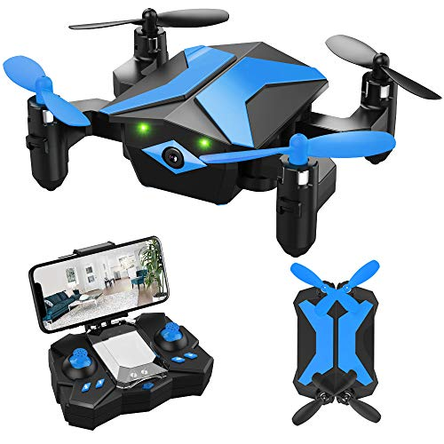 Drone for Kids – Attop Drones with Camera for Kids, AR Game Mode RC Mini Drone w App Gravity Voice Control Trajectory…