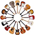 Classic Guitars - Round Wooden Coaster