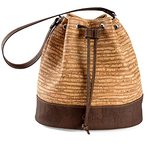 Cork Woman Bucket Vegan Non Leather Red for Women Bag Marron Crossbody Shoulder Handbag qFzqv