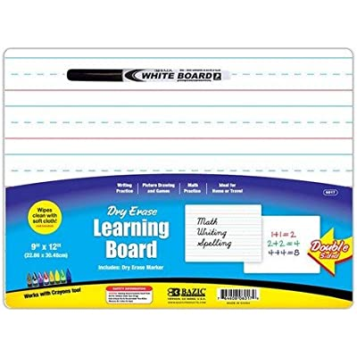 bazic-double-sided-dry-erase-learning