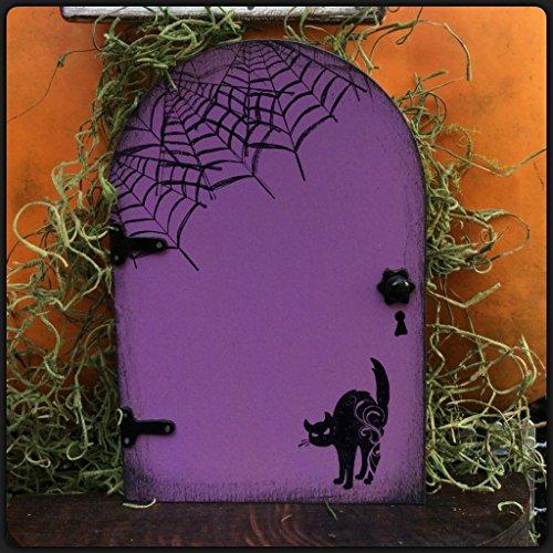 Halloween Decoration, Black Cat, Fairy Garden, Fairy Door,