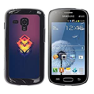 iKiki Tech / Estuche rígido - Naranja Cubo Fundido - Samsung Galaxy S Duos S7562
