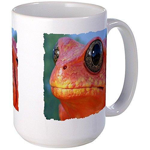 CafePress - ORANGE POISON DART FROG Large Mug - Coffee Mug, Large 15 oz. White Coffee Cup - Deadly Poison Dart Frogs