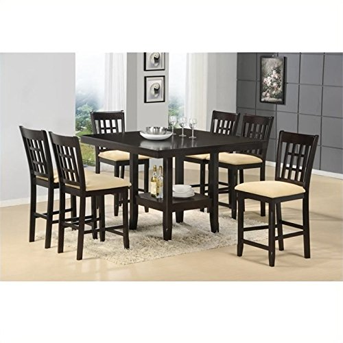Bowery Hill 7 Piece Counter Height Dining Set in Cappuccino