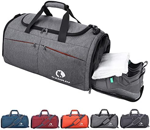 Canway Sports Gym Bag, Travel Duffel bag with Wet Pocket & Shoes Compartment for males ladies, 45L, Lightweight