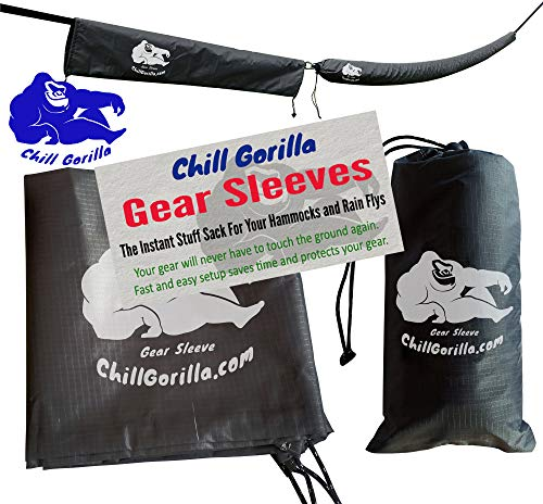 Chill Gorilla Snakeskin Sleeves. Instant Stuff Sack & Protective Cover for hammocks, rain flys, tarps. 173 Total. Packs/unpacks Gear in Seconds. ENO Camping & Backpacking Accessories. Gray