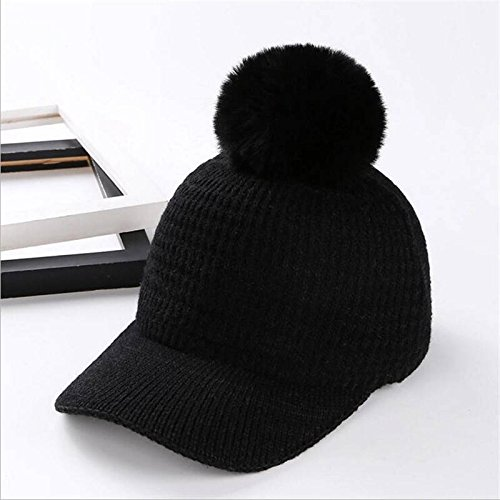 ALWLJ Autumn Winter Baseball Caps Pompons Hat Knitted Casual Casual Color Solid Female Bone Snapback Trucker Preto