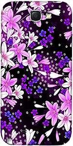 Snoogg Flores Púrpuras Del Diseñador Protectora Volver Funda Para El Samsung ...