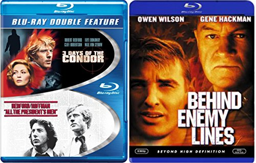 Espionage Collection - Behind Enemy Lines, 3 Days of Condor & All the President's Men 3-Movie Blu-ray - Ford Black Tom Flynn