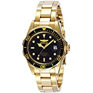 [Sponsored]Men's 'Pro Diver' Quartz 23k-Yellow-Gold-Plated-Stainless-Steel Sport Watch,...