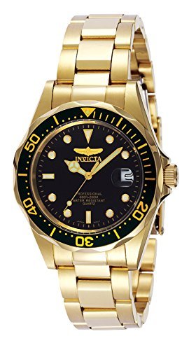 Cole Silver Dial - Invicta Men's 8936 Pro Diver Collection 23k Gold Plated Watch