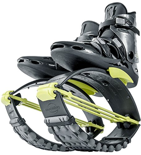 Mens Effect Skate Shoe (Kangoo Jumps XR3 Model (Black & Yellow, X-Large))