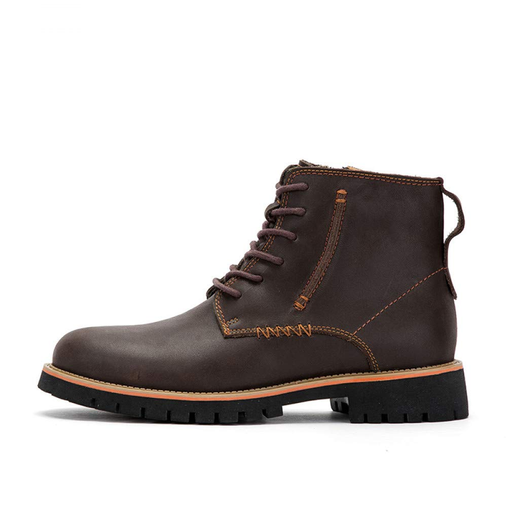 FHCGMX Echtes Leder Mode Martin Stiefel Männliche Schuhe Schuhe Schuhe Für Männer Erwachsene Herbst Casual Business Schuhe Trend Design 6300ad