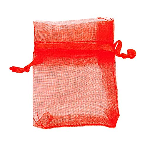 100 Pieces Assorted Color Organza Drawstring Pouches Candy Jewelry Party Wedding Favor Present Bags 7x9cm ()