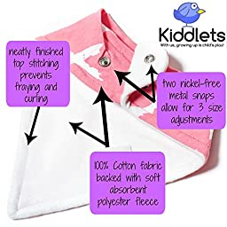 Baby Bandana Drool Bibs for Drooling and Teething 4 Pack Best Gift Set For Girls - by Kiddlets