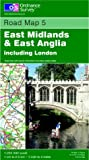 East Midlands and East Anglia Including London (Road Map)