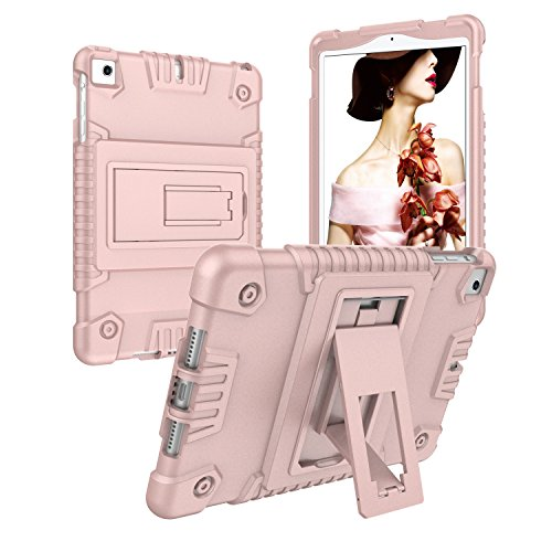iPad mini Case,iPad mini 2 Case,iPad mini 3 Case, UZER Full-body Rugged?Shockproof Silicone Anti-slip High Impact Resistant Hybrid PC Bumper Protective Case with Kickstand for iPad mini 1/2/3